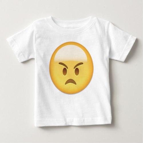 Angry Face Emoji Baby T-Shirt