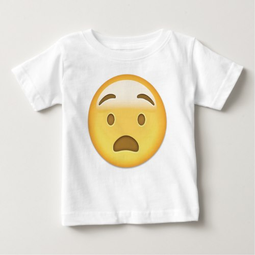 Anguished Face Emoji Baby T-Shirt