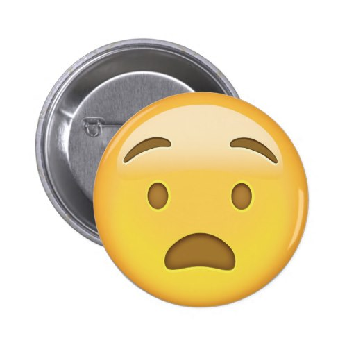 Anguished Face Emoji Button