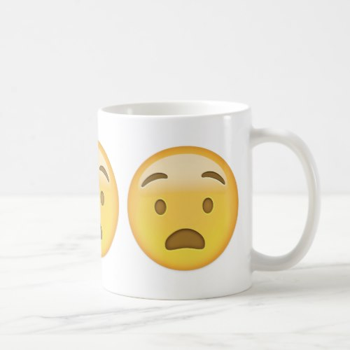Anguished Face Emoji Coffee Mug