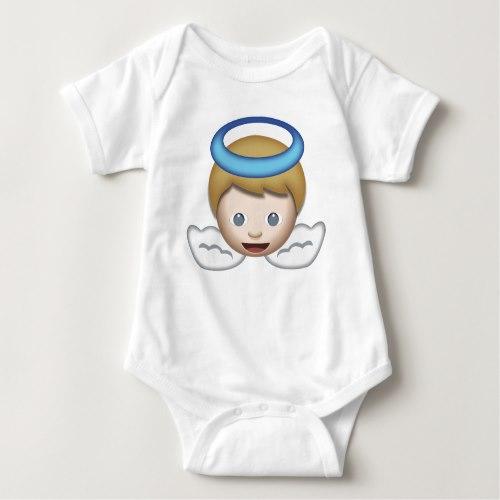 Baby Angel Emoji Baby Bodysuit