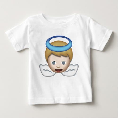 Baby Angel Emoji Baby T-Shirt