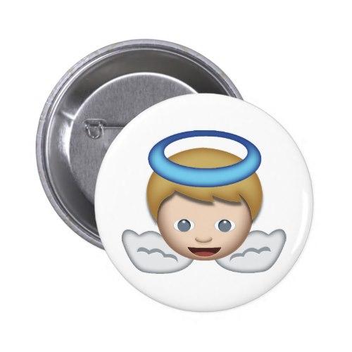 Baby Angel Emoji Pinback Button