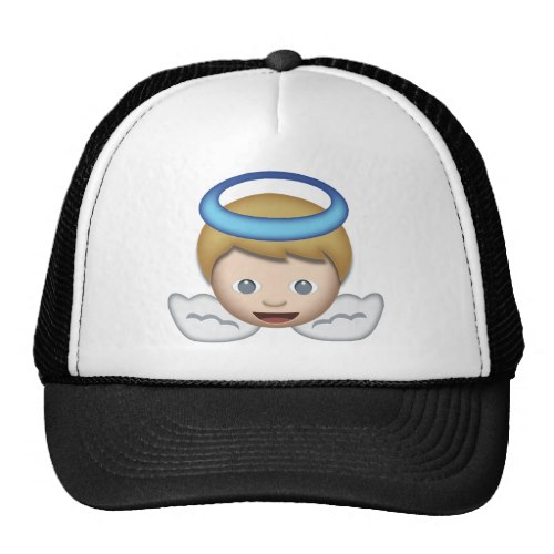 Baby Angel Emoji Trucker Hat