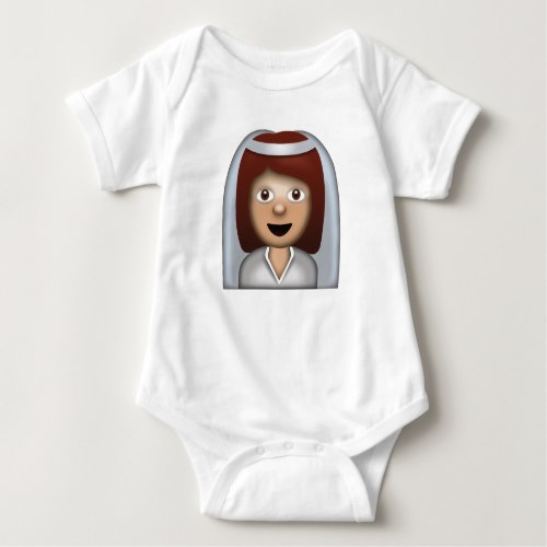 Bride With Veil Emoji Baby Bodysuit