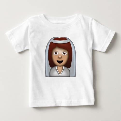 Bride With Veil Emoji Baby T-Shirt