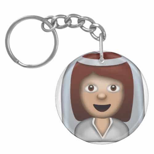 Bride With Veil Emoji Keychain