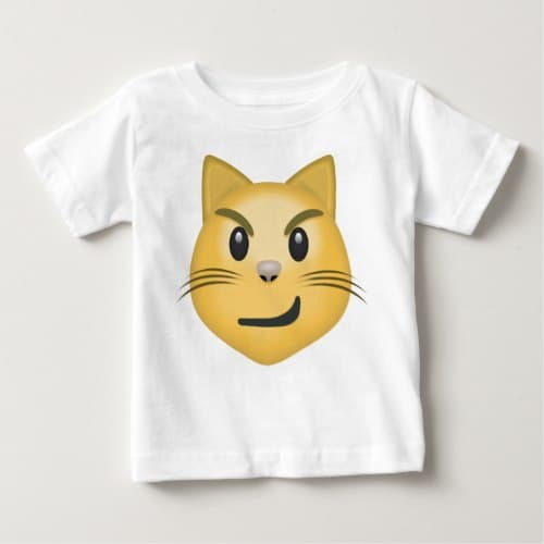 Cat Face With Wry Smile Emoji Baby T-Shirt