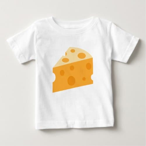 Cheese Wedge Emoji Baby T-Shirt