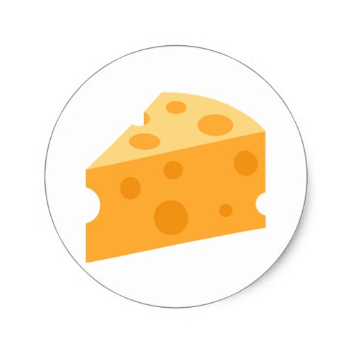 Cheese Wedge Emoji Classic Round Sticker