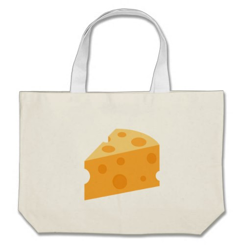 Cheese Wedge Emoji Large Tote Bag