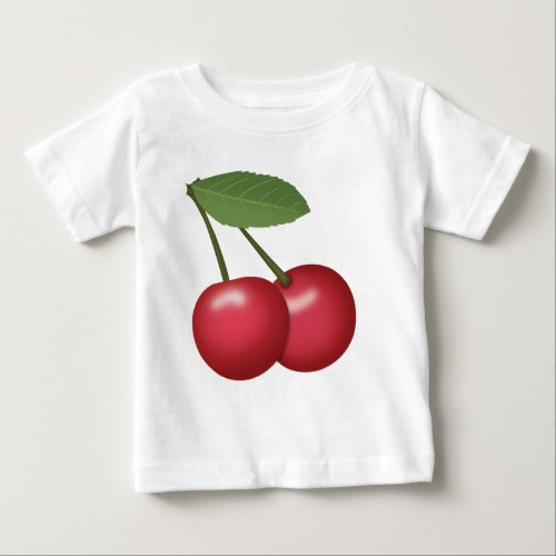 Cherries Emoji Baby T-Shirt