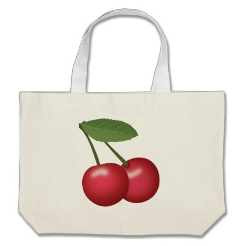 Cherries Emoji Large Tote Bag
