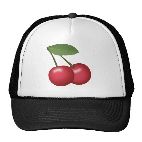 Cherries Emoji Trucker Hat