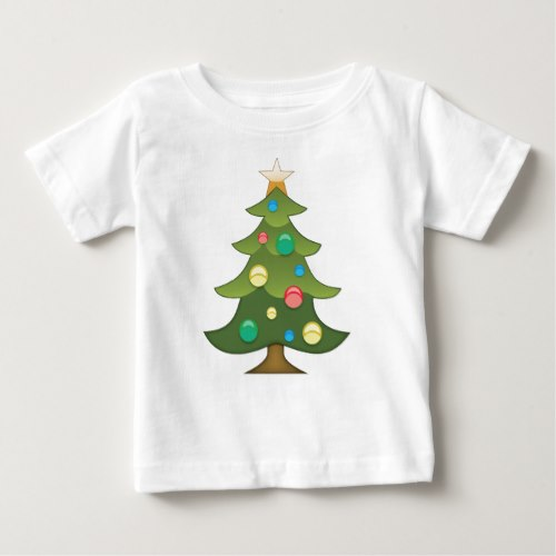 Christmas Tree Emoji Baby T-Shirt