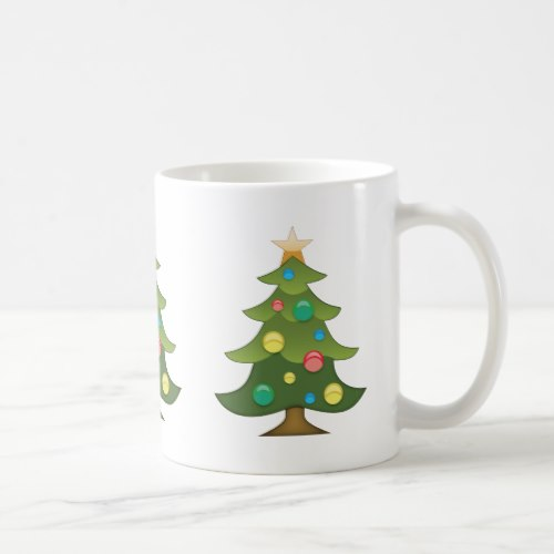 Christmas Tree Emoji Coffee Mug