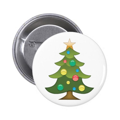 Christmas Tree Emoji.Christmas Tree Emoji Pinback Button