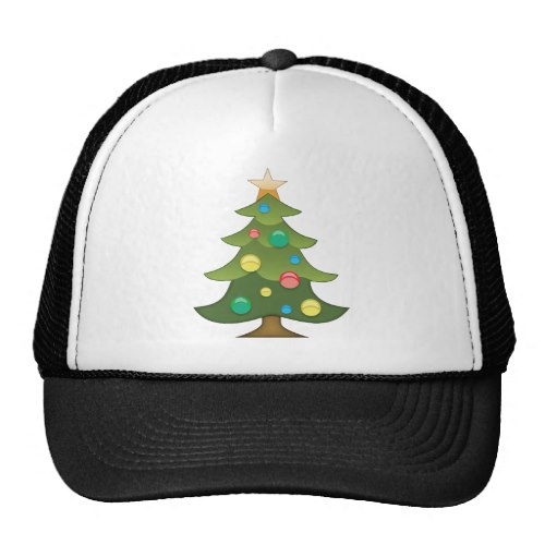 Christmas Tree Emoji Trucker Hat