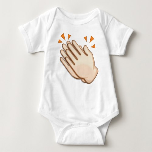 Clapping Hands Sign Emoji Baby Bodysuit