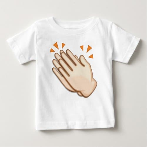 Clapping Hands Sign Emoji Baby T-Shirt