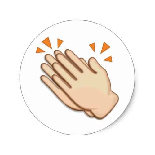 Clapping Hands Sign Emoji Classic Round Sticker