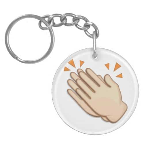 Clapping Hands Sign Emoji Keychain
