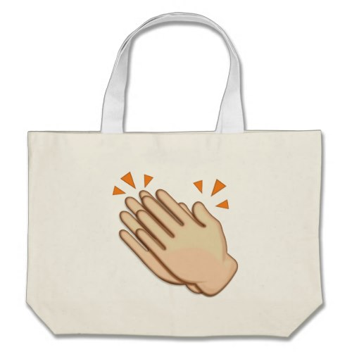 Clapping Hands Sign Emoji Large Tote Bag
