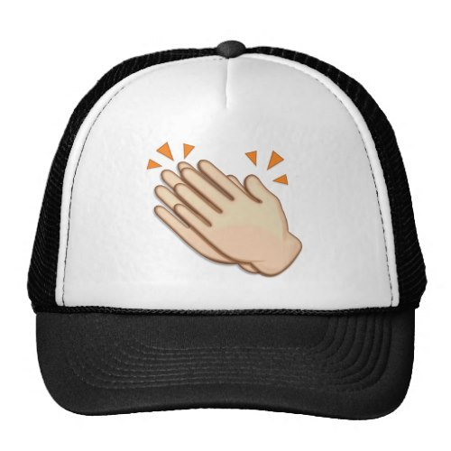 Clapping Hands Sign Emoji Trucker Hat