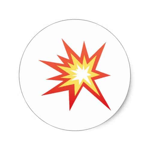 Collision Symbol Emoji Classic Round Sticker
