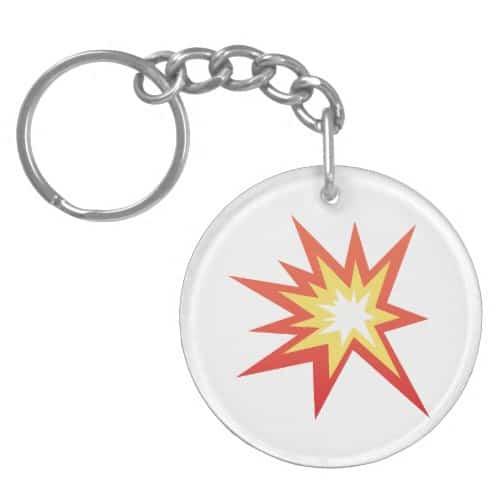 Collision Symbol Emoji Keychain