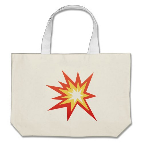 Collision Symbol Emoji Large Tote Bag
