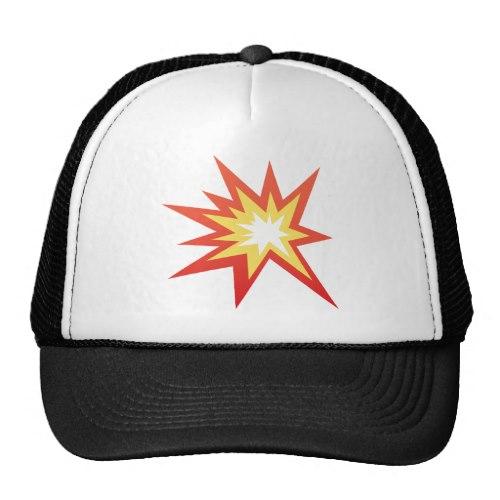 Collision Symbol Emoji Trucker Hat