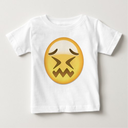 Confounded Face Emoji Baby T-Shirt