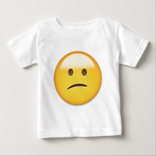 Confused Face Emoji Baby T-Shirt
