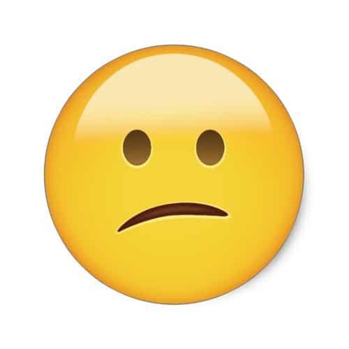 Confused Face Emoji Classic Round Sticker
