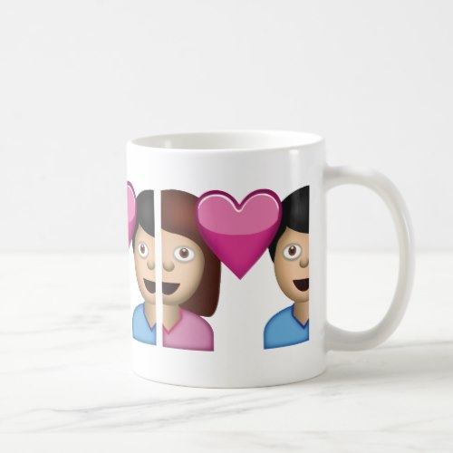 Couple With Heart Emoji Coffee Mug