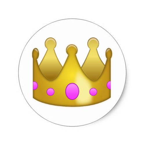Crown Emoji Classic Round Sticker