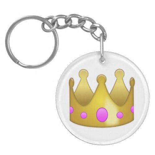 Crown Emoji Keychain
