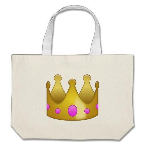 Crown Emoji Large Tote Bag