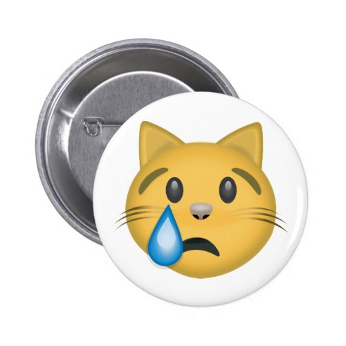 Crying Cat Face Emoji Button