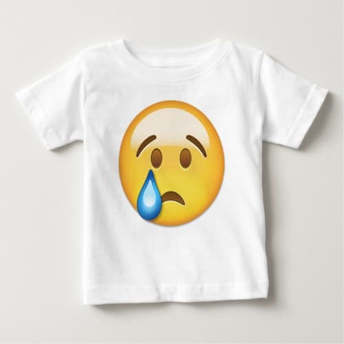 Crying Face Emoji Baby T-Shirt