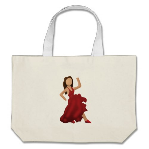Dancer Emoji Large Tote Bag