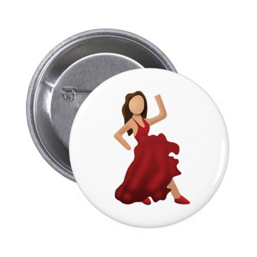 Dancer Emoji Pinback Button