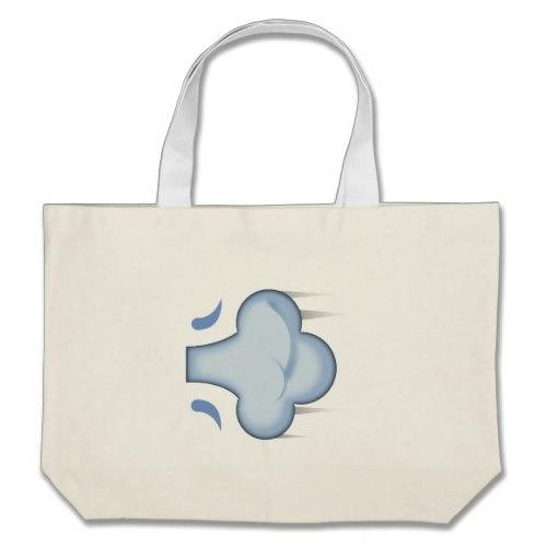 Dash Symbol Emoji Large Tote Bag