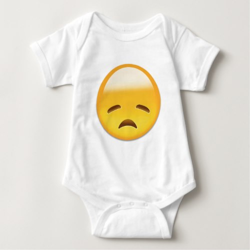 Disappointed Face Emoji Baby Bodysuit