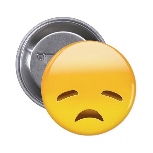 Disappointed Face Emoji Button
