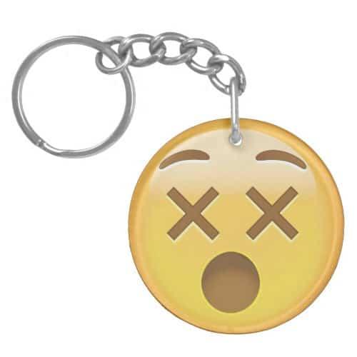 Dizzy Face Emoji Keychain