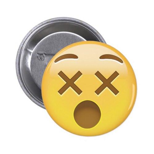 Dizzy Face Emoji Pinback Button