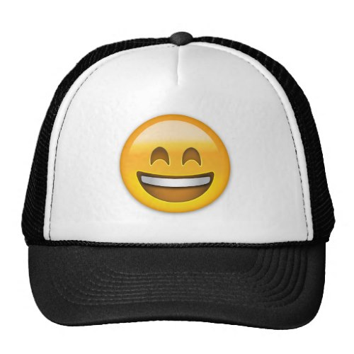 Emoji Smiling Face Open Mouth And Smiling Eyes Trucker Hat