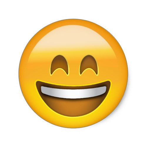 Emoji Smiling Face With Open Mouth Smiling Eyes Classic Round Sticker